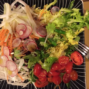 Even the prosaic mixed salad looked pretty as a picture.