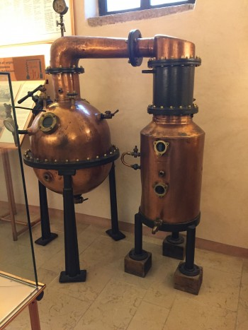 Grappa stills are beautiful things, an the grappa museum has quite a collection.