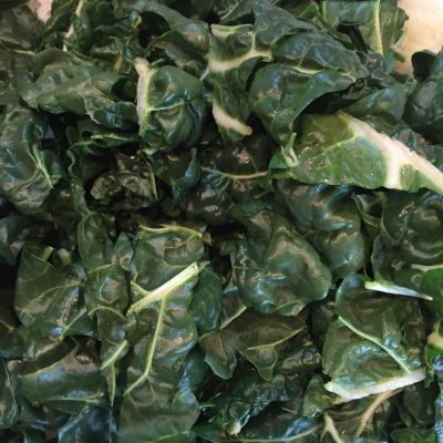 Silver beet, while not a green I like that much, works well with the other flavours in this dish.